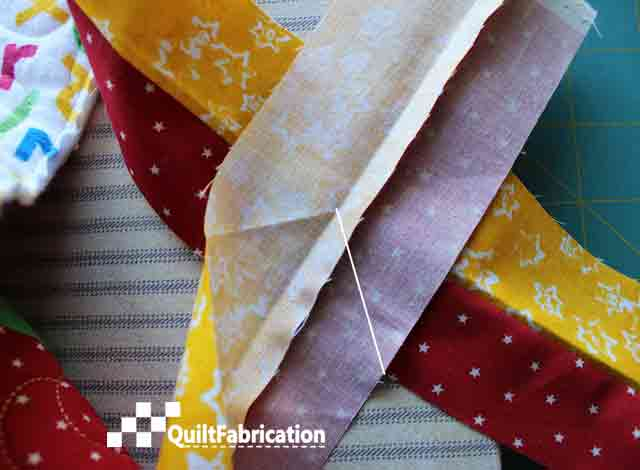 Piped Quilt Binding aligning markings