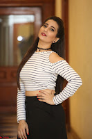 Manjusha in sleevelss crop top and black skirt at Darshakudu pre release ~  Exclusive Celebrities Galleries 095.JPG
