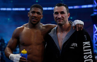 Champion Anthony Joshua and wladimir Klitschko rematch fight