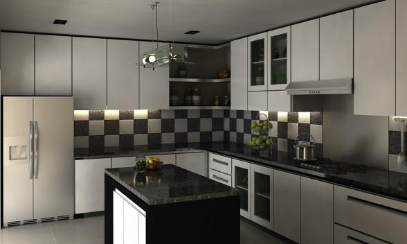 cahaya interior desain contoh desain dapur. Black Bedroom Furniture Sets. Home Design Ideas