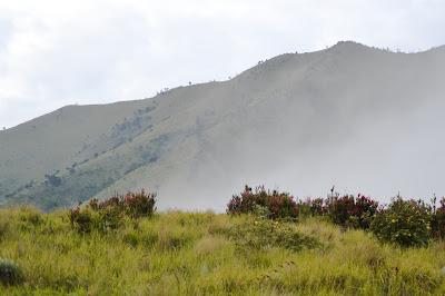 kabut di dekat camp