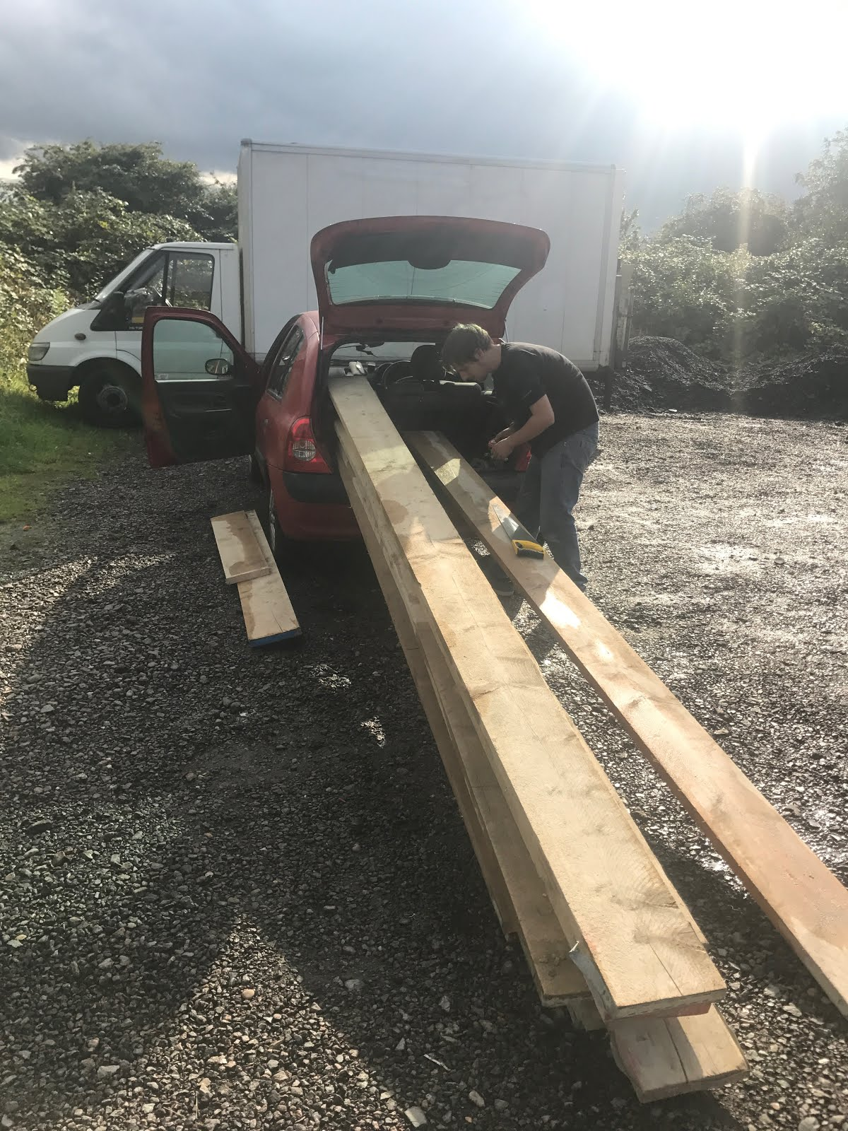 how to fit scaffold boards into your car