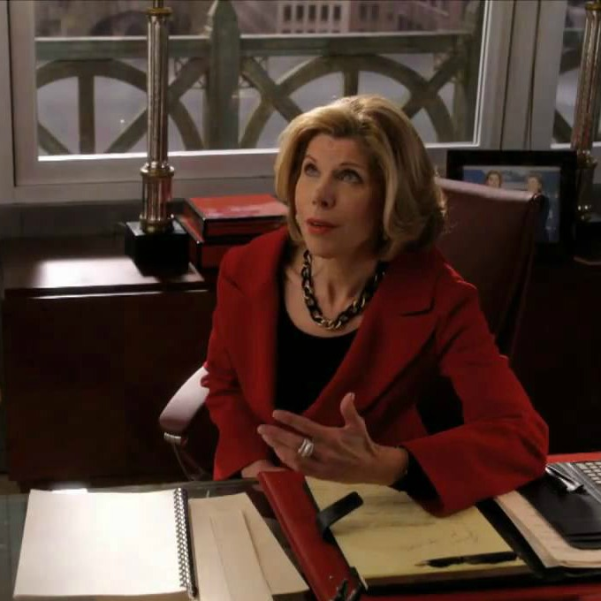 Os colares poderosos de Diane Lockhart - The Good Wife