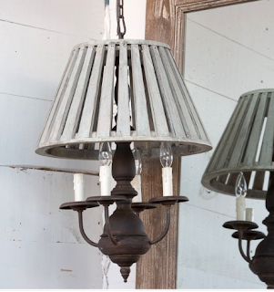 Basket -Chandelier-Famrhouse-Lighting