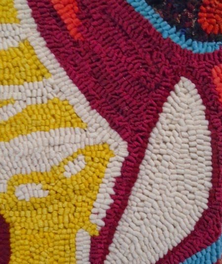 Detail From Toronto Graffiti By Kathryn Taylor 14 X Wool On Linen Photo Joe Lewis Taken With Permission