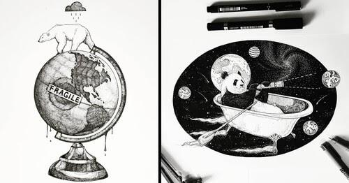 00-Juan-Velilla-Surreal-Ink-Animal-Drawings-www-designstack-co