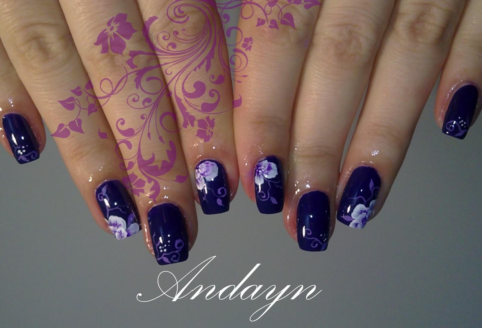 Elegant Purple Andayn Nails