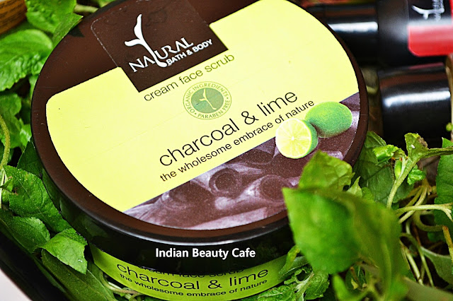 Natural Bath and Body Charcoal and Lime Cream Face Scrub