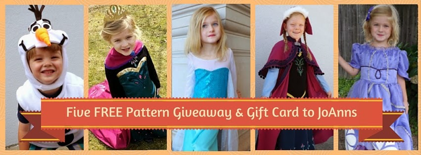 Elsa, Anna, Olaf and Sofia Pattern Giveaway!!!