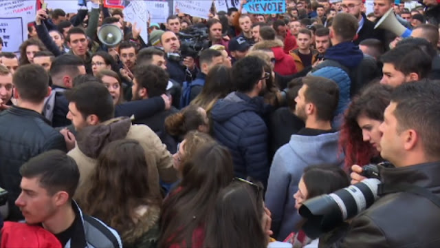 The fifth day of Albanian student protests