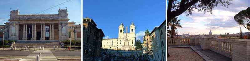 La Galleria Nazionale di Arte moderna: la GNAM, Trinità dei Monti e la chiesa della Santissima Trinità dei Monti