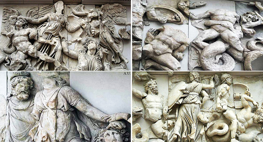 The Gigantomachy frieze from the Pergamon Altar