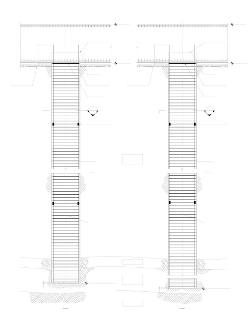 Blueprint detail of two testing piles of Kingdom Tower, world's tallest building under construction in Jeddah, Saubi Arabia