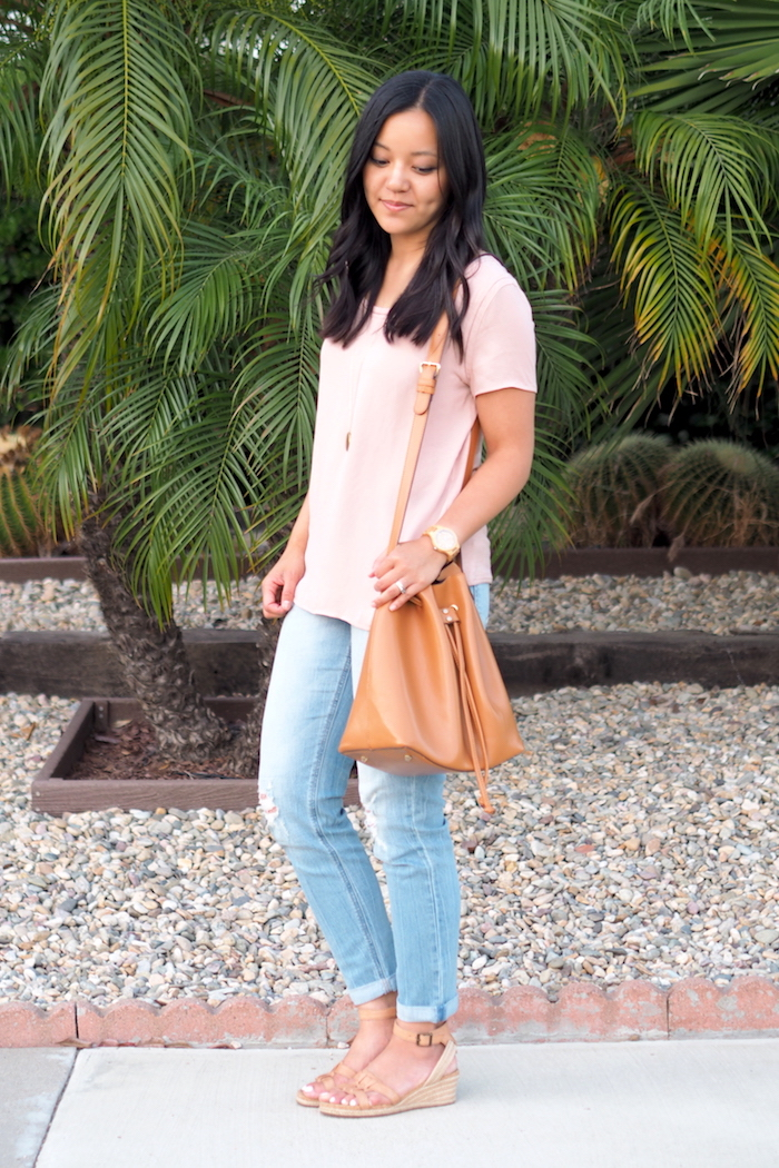 how to wear a blush top