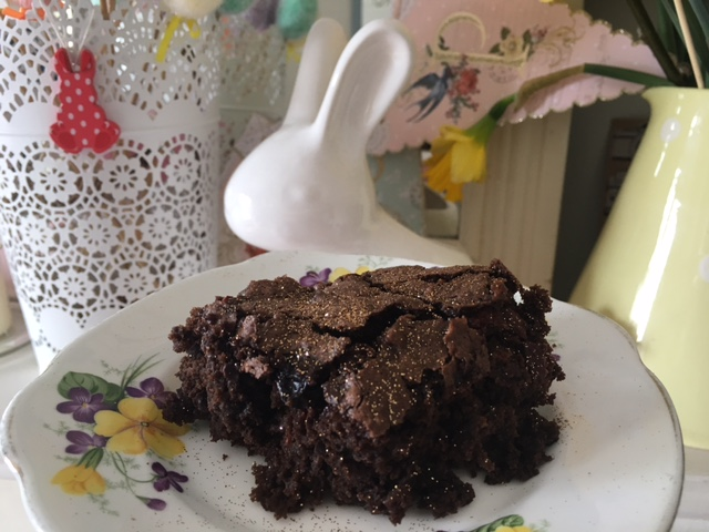 Chocolate and cherry gluten free brownies