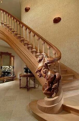 25 Handmade Wood Stair Railing Designs Ideas