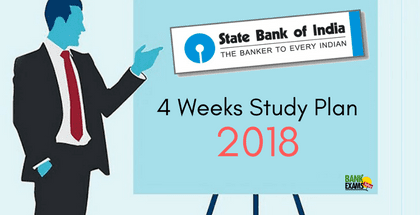 4 Weeks Study Plan for SBI Clerk Prelims 2018