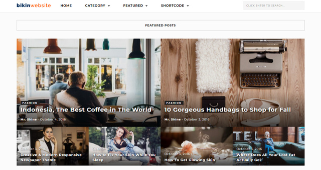 Taren Magazine Responsive Wordpress Themes