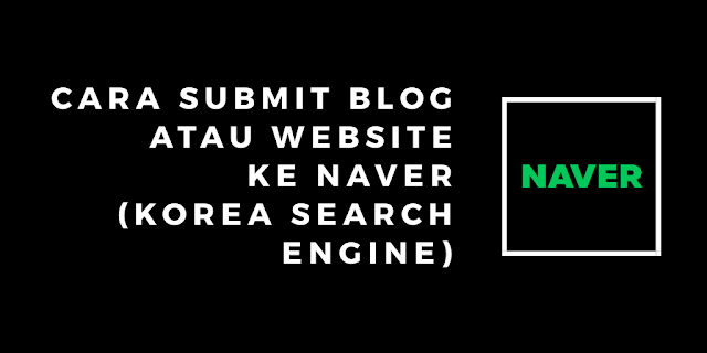 Submit blog to naver search engine