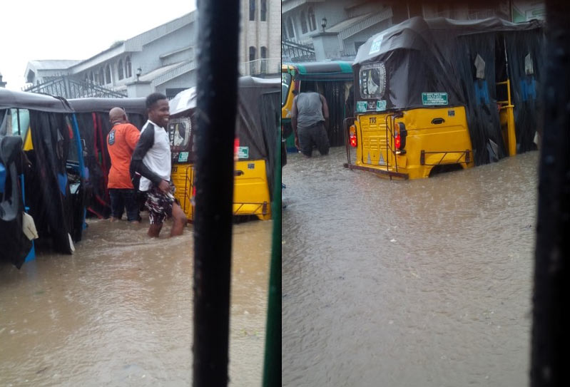 See the state of a busy road in Rivers capital Port Harcourt today