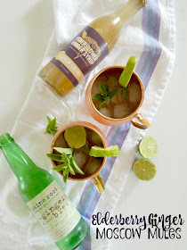 Elderberry Ginger Moscow Mules...a refreshing drink for summer!  Sweet ginger syrup, spicy ginger beer, fresh lime and mint makes for the most tasty summer cocktail. (sweetandsavoryfood.com)
