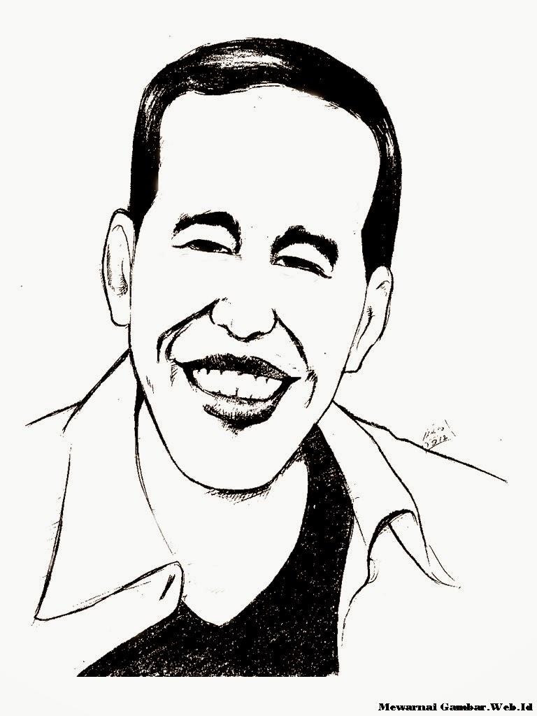 Mewarnai Gambar Karikatur Jokowi Mewarnai Gambar