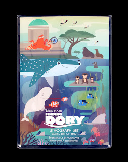 Finding Dory Disney Store Limited Edition Lithograph Set
