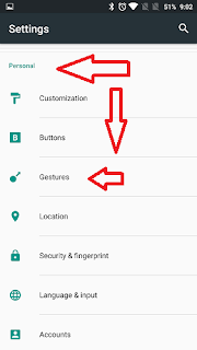 OnePlus Settings Personal