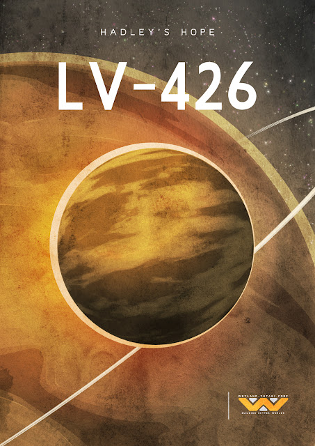 Cool Art: Sci Fi Planet Travel Posters by Dean Walton