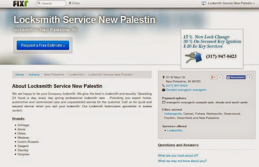 Locksmith Service New Palestin