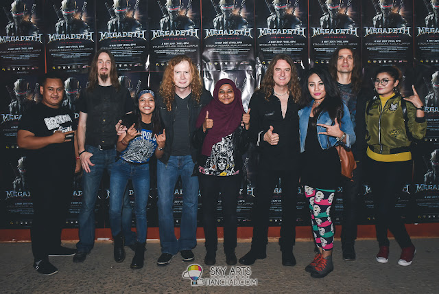 MEGADETH LIVE IN MALAYSIA 2017 STADIUM NEGARA Concert Photo Fans Meet and Greet