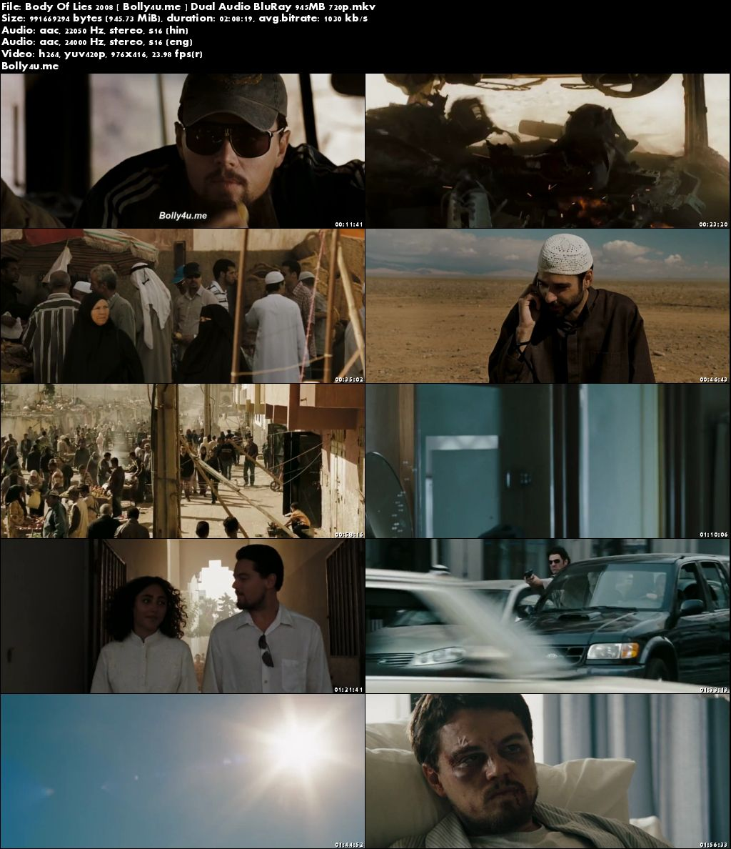 Body Of Lies 2008 BluRay 950MB Hindi Dubbed Dual Audio 720p Download