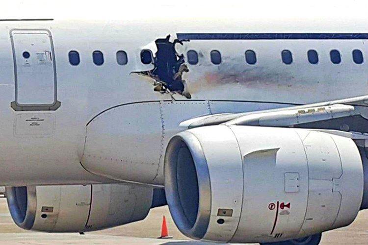 Uçak durduğunda böylesine ürkütücü neticelenen patlamanın bir tasarım hatası olduğu anlaşıldı.