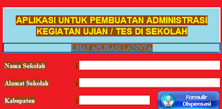 gambar aplikasi manajemen ujian sekolah