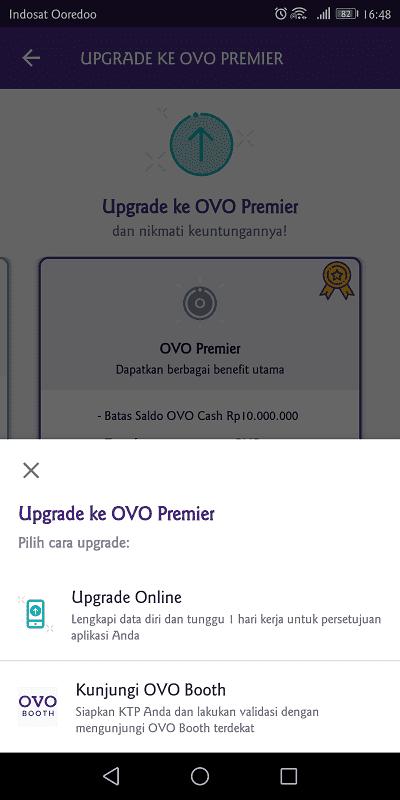 upgrade ovo online membutuhkan foto ktp dan wajah