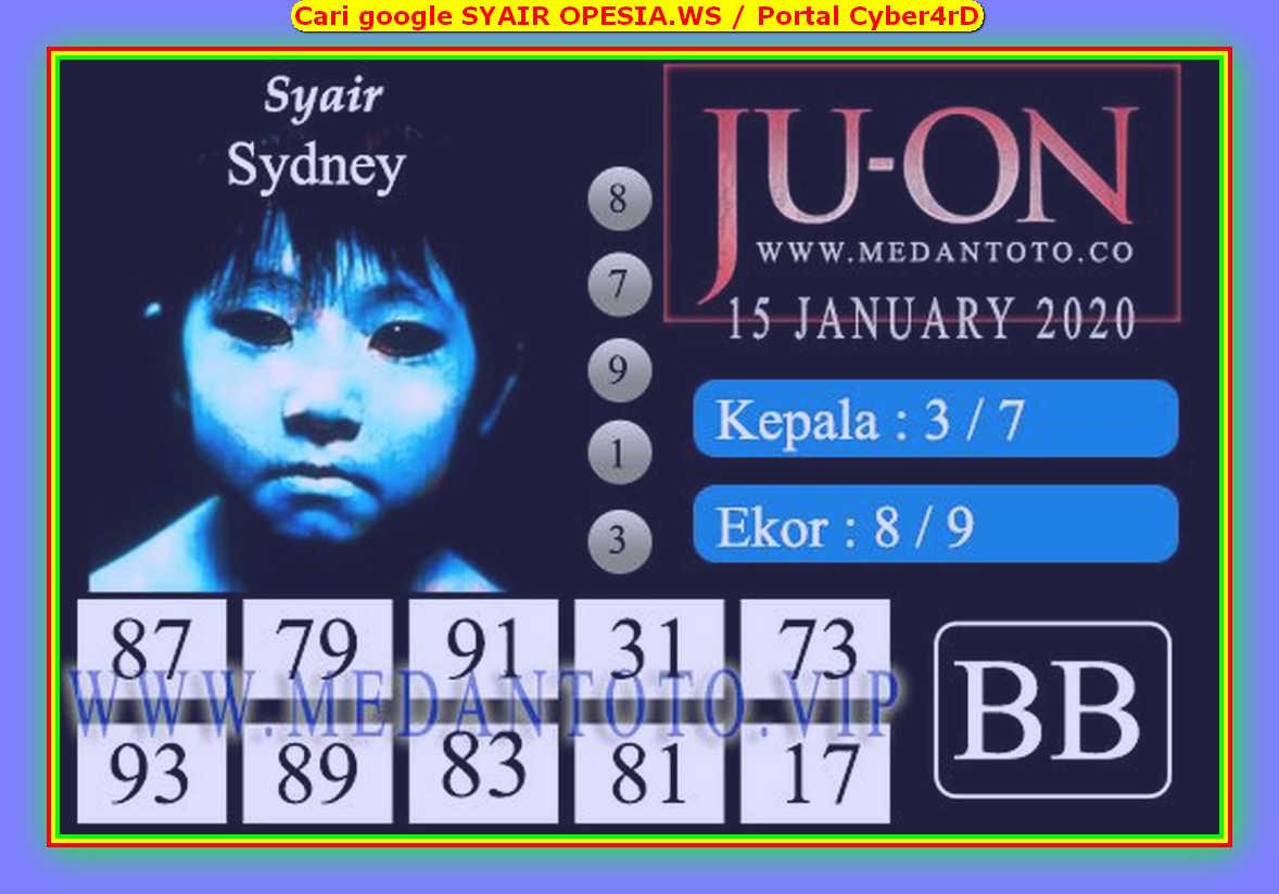 Kode syair Sydney Rabu 15 Januari 2020 120