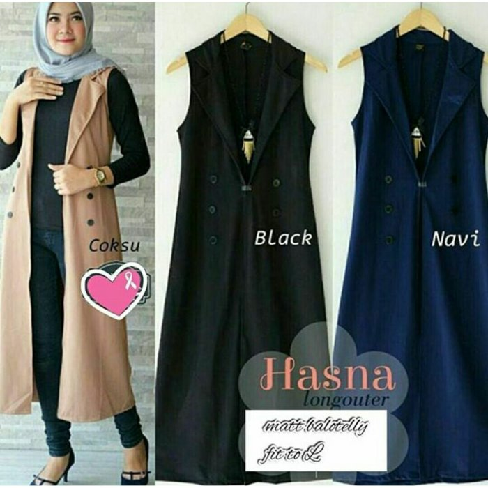 jual hasna long outer