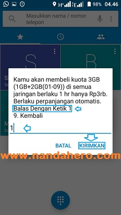 cara paket three 3gb 3000 terbaru 2018