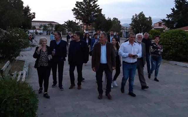 Ο Δημήτρης Καμπόσος ξεκίνησε την περιοδεία του στα χωριά του Δήμου Άργους Μυκηνών