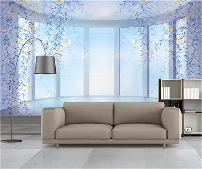 Modern 3d wallpaper murals for living room 2019