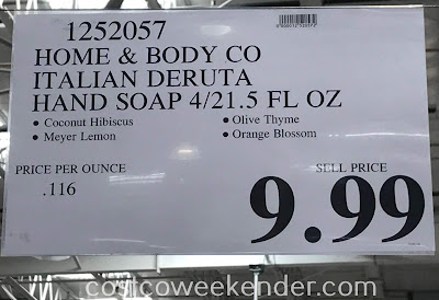 Deal for the Home and Body Co Italian Deruta Hand Soap Collection at Costco