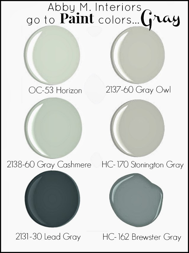"abby manchesky interiors: my ""go to"" paint colorsgray"