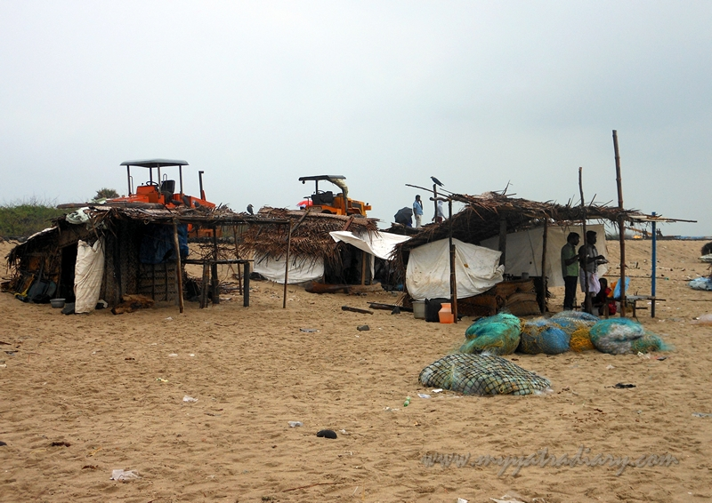 Shacks on the Dhanushkodi Beach, Rameshwaram