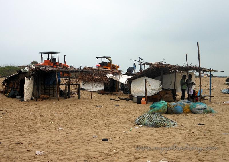 Shacks on the Dhanushkodi Beach, Rameshwaram