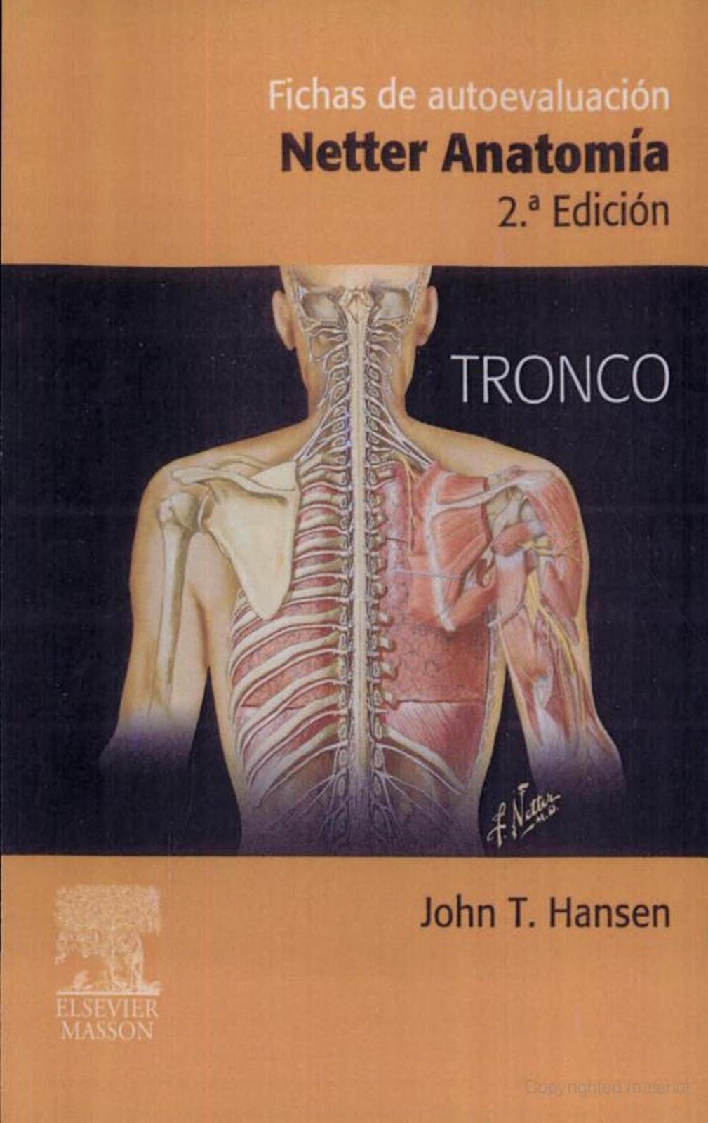 Netter: Anatomía. Fichas de Autoevaluación. Tronco, 2da. Edición ...