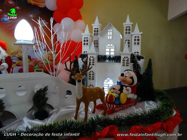 Decoração de festa infantil tema de Natal