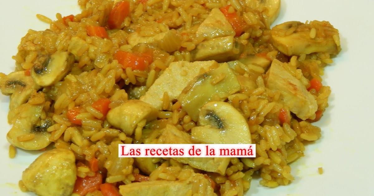 Las recetas de la mam receta r pida de arroz con - Arroz con verduras light ...