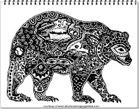 free adult coloring downloads bear