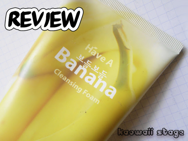 have a banana cleansing foam