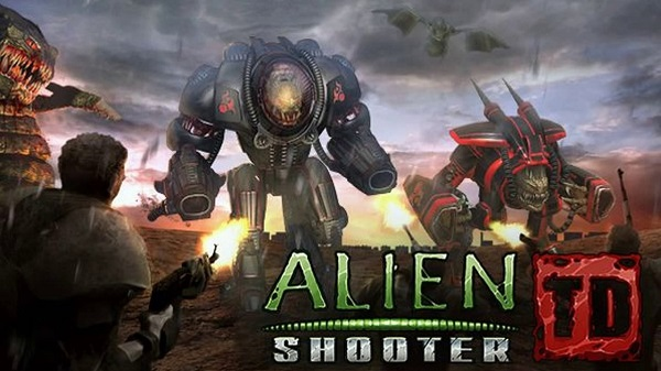 Download Alien Shooter TD Mod Apk Obb Data Unlimited diamonds for Android